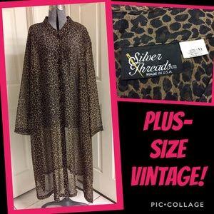 VINTAGE sheer LEOPARD dress!